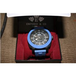 BLUE EMPORIO & CO LUXURY WRIST WATCH