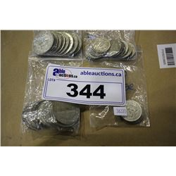 COLLECTION OF SILVER COINS - .100, .300 AND .720