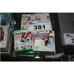LOT OF INSTAX MINI INSTANT FILM