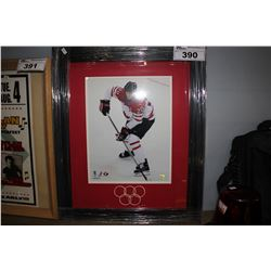 FRAMED OLYMPIC HOCKEY MEMORABILIA