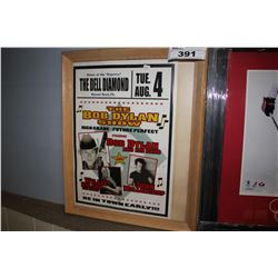 THE BOB DYLAN SHOW FRAMED POSTER