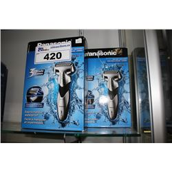 TWO PANASONIC 3-BLADE/ EASY-TO-HANDLE/ WATERPROOF/ WET&DRY WASHABLE RAZORS