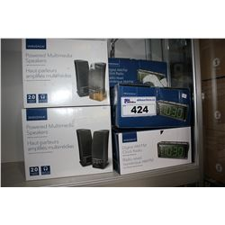 INSIGNIA POWERED MULTIMEDIA SPEAKERS AND INSIGNIA DIGITAL AM/FM CLOCK RADIOS