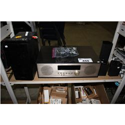 INSIGNIA MODEL NS-NAIOR18 RECEIVER AND SAMSUNG SPEAKER SET
