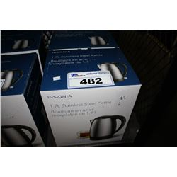 TWO INSIGNIA 1.7L STAINLESS STEEL KETTLES