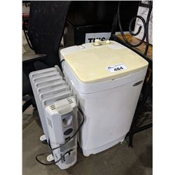 HAIER FULLY AUTOMATIC PORTABLE WASHING MACHINE AND HONEYWELL PORTABLE ELECTRIC HEATER