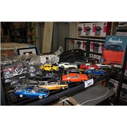 SHELF LOT OF COLLECTABLE MODEL CARS AND MORE