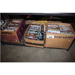 THREE BOXES OF ASSORTED DVD'S
