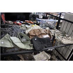 SHELF LOT OF USED DESIGNER BAGS