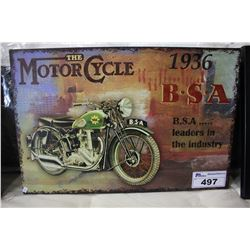 THE MOTORCYCLE 1936 B.S.A CANVAS PRINT