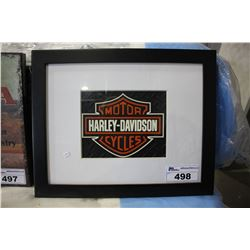 HARLEY DAVIDSON MOTORCYCLES FRAMED MAT