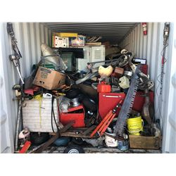 CONTENTS OF 20' SHIPPING CONTAINER INCLUDING AUTOMOTIVE PARTS, TOOLS AND MORE