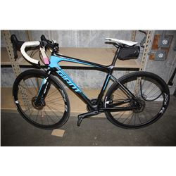 BLUE/BLACK GIANT DEFY ADVANCED 22-SPEED ROAD BIKE WITH DISC BRAKES