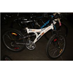 WHITE SPORTEK MUD DAWG 18-SPEED MOUNTAIN BIKE