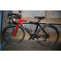 RED/BLACK HYPER HPR700 ALUMINIUM 6065 SERIES 14-SPEED ROAD BIKE