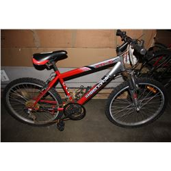 RED/SILVER SUPERCYCLE XTI-21 21-SPEED MOUNTAIN BIKE
