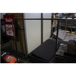 STORE DISPLAY SIGN, CLOTHING RACK AND MORE