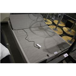 QUEEN SIZED TEMPUR-PEDIC FLAT FOUNDATION ELECTRIC ADJUSTABLE BED WITH REMOTE