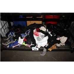 SHELF LOT OF ASSORTED CLOTHING/ COSTUMES