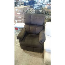 BROWN CORDUROY RECLINER