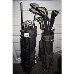 2 SETS OF GOLF CLUBS IN GOLF BAGS