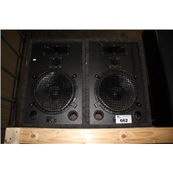 PAIR OF ACOUSTIC RESPONSE M-1440 STUDIO MONITOR 250 WATT PROFESSIONAL LOUD SPEAKERS