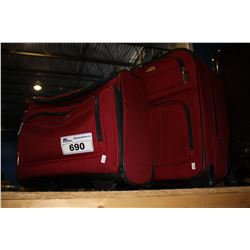 PAIR OF RED SAMSONITE LUGGAGE