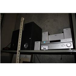 SONY RECEIVER, SPEAKERS, SUBWOOFERS, AND CAR AMPLIFIER