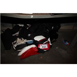 LOT OF HOCKEY GEAR
