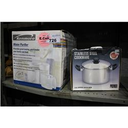 KENMORE WATER PURIFIER AND STAINLESS STEEL 5.5L DUTCH OVEN