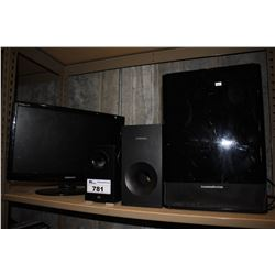HARMAN/KARDON SUB-TS15 SUBWOOFER, SAMSUNG AND ALTEC SUBWOOFERS AND SAMSUNG MONITOR