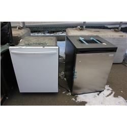 INSIGNIA BUILT IN DISHWASHER AND BAR FRIDGE (WORKING CONDITION UNKNOWN)