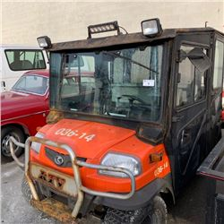 2014 KUBOTA RTV 1140 CPX, SIDE BY SIDE QUAD WITH DUMP, ORANGE, A5KF1HDACE6032525