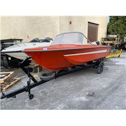 1965 CHRYSLER BOAT TRAILER, RED, VIN # 50301262, FRESHLY PAINTED TRAILER, OUT OF PROVINCE *HAS