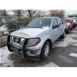 2011 NISSAN FRONTIER SV, 2DR PU, SILVER, VIN # 1N6AD0CU8BC443230