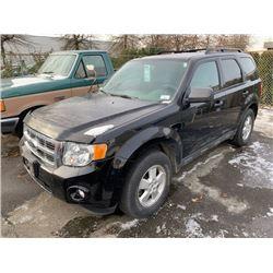 2009 FORD ESCAPE XLT PACIFIC EDITION, 4DR SUV, BLACK, VIN # 1FMCU03739KC18148