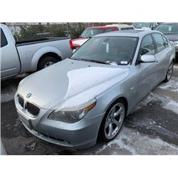 2004 BMW 545I, 4DR SEDAN, GREY, VIN # WBANB335X4B112658