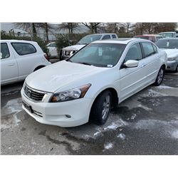 2008 HONDA ACCORD, 4DR SEDAN, WHITE, VIN # 1HGCP36808A802837