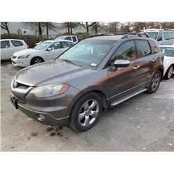 2007 ACURA RDX TURBO, SH AWD, 4DR SUV, GREY, VIN # 5J8TB18517A801846