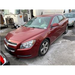 2009 CHEVROLET MALIBU HYBRID, 4DR SEDAN, RED, VIN # 1G1ZF57519F247535