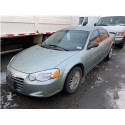 2006 CHRYSLER SEBRING, 4DR SEDAN, GREY, VIN # 1C3EL56R16N235930