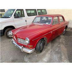 1966 VOLVO 122, 4DR SEDAN, RED, VIN # 220988