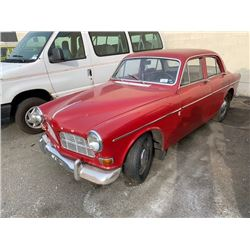 1966 VOLVO 122, 4DR SEDAN, RED, VIN # 220988