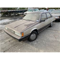 1985 TOYOTA CAMRY, 4DR SEDAN, BROWN, VIN # JT2SV16E3F0273258
