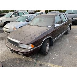 1990 CHRYSLER LEBARON, 4DR SEDAN, RED, VIN # 1C3XA5634LF840444