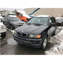 2002 BMW X5 4DR SUV, BLACK, VIN # 5UXFA535X2LP57046