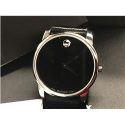 MOVADO MUSEUM CLASSIC BLACK DIAL LEATHER MENS WATCH