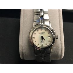RAYMOND WEIL PARSIFAL WHITE MOTHER OF PEARL DIAMOND DIAL LADIES WATCH