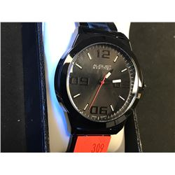 MENS AUGUST STEINER BLACK DIAL LINK STRAP WATCH