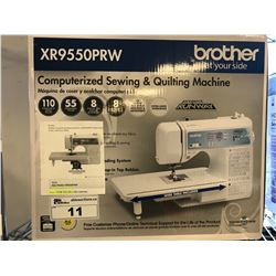 BROTHER COMPUTERIZED SEWING & QUILTING MACHINE (XR9550PRW)